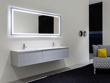 Specchio con cornice con illuminazione integrata per bagno SFOGLIA