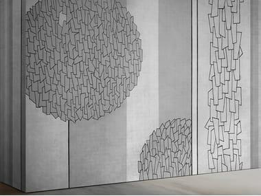 Papel de parede ecológico com suporte de reboco SHADOWS SH 03