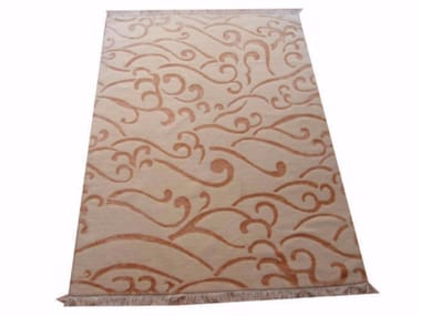 Patterned handmade rectangular rug SHAN