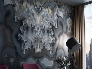 Nonwoven wallpaper with marble effect SHANAY