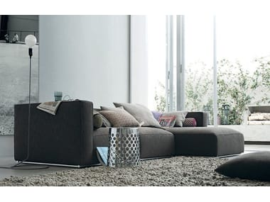 Sectional Fabric Sofa With Removable Cover With Chaise Longue SHANGAI | Sofa  With Chaise Longue