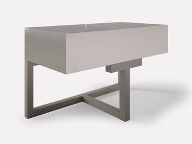 Rectangular wooden bedside table with drawers SHANGHAI   Bedside table