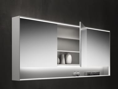 Mirror with cabinet with integrated lighting SHAPE EVO | Mirror with cabinet