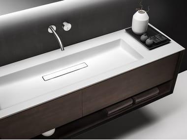 Single wall-mounted vanity unit with drawers SHAPE EVO | Single vanity unit
