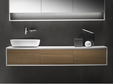 Single wall-mounted vanity unit with drawers SHAPE EVO | Wall-mounted vanity unit
