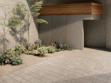 Porcelain stoneware outdoor floor tiles with stone effect SHAPES OF ITALY AEXTRA 20