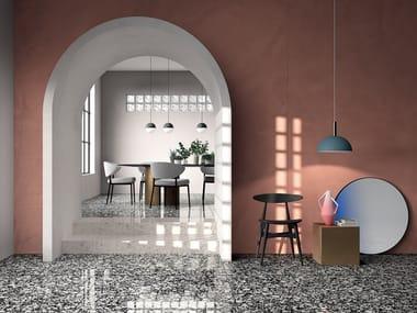 Porcelain stoneware flooring terrazzo effect SHARDS LARGE BLACK