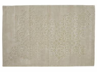 Rectangular wool rug with geometric shapes SHAZIA