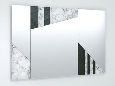 Rectangular wall-mounted mirror SHEE