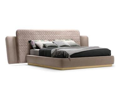 Bed with upholstered headboard and frame SHEILA