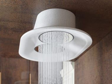 Ceiling mounted round Luxolid® overhead shower SHELL RAIN