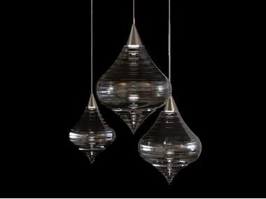 Lampada a sospensione a LED in vetro di Murano SHEHERAZADE