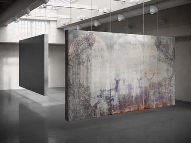 Digital printing trompe l'oeil wallpaper SHERWOOD