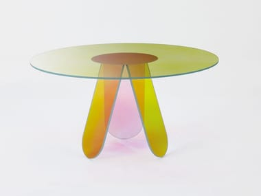 Round crystal table SHIMMER | Round table