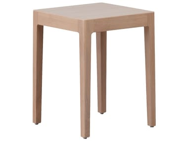 Low wooden stool SHIRA | Low stool