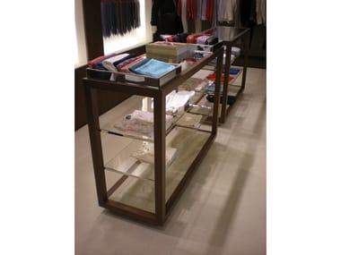 Double-sided floor-standing retail display unit Retail display unit