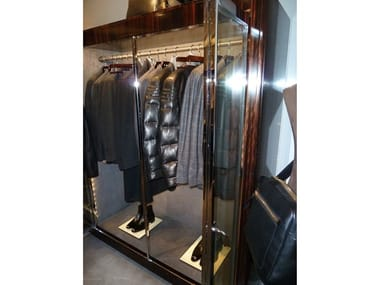 Wall-mounted Shop furnishing CLOTHING STAND IN METAL