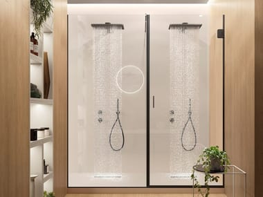 Cabina de ducha en nicho de cristal Cabina de ducha en nicho