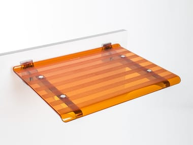 Folding polycarbonate shower Seat LEO | Shower Seat