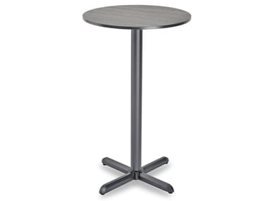 Round high table with 4-star base DIAMANTE HIGH | Round table