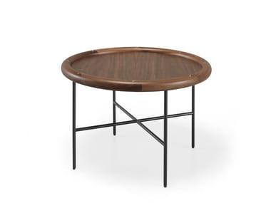 Tavolino da caffè rotondo in legno massello SIDE BY SIDE | Tavolino da caffè