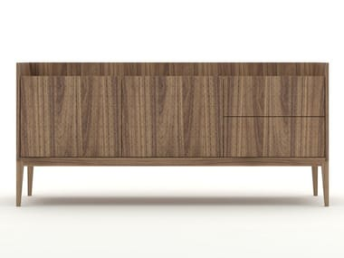 Walnut sideboard with drawers TRAME | Sideboard