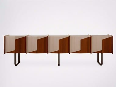 Wooden sideboard with doors DIEDRO | Sideboard