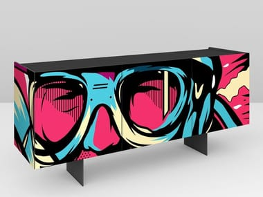 Lacquered wooden sideboard RACE | Sideboard