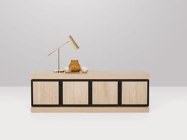 Wooden sideboard with doors LOIRE | Sideboard