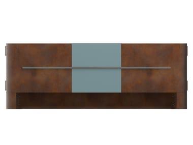 Madia in acciaio Corten™ con ante a battente COCO | Madia