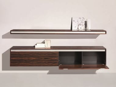 Suspended sideboard with flap doors FRIDAY | Sideboard