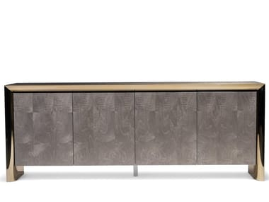 Wooden sideboard with integrated lighting HAMILTON | Sideboard