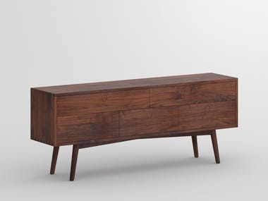 Solid wood sideboard with drawers AMBIO | Sideboard with drawers