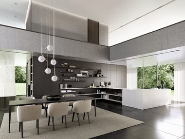 Kitchen with peninsula SieMatic PURE - SE 4004 / 5005