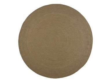 Handmade round polypropylene outdoor rugs SIESTA | Round rug