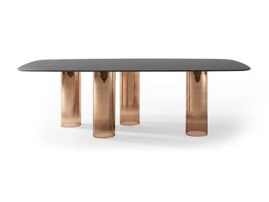 Tavolo da pranzo rettangolare in vetro SIGNORE DEGLI ANELLI | Tavolo in vetro