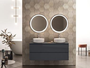 Mobile lavabo sospeso con cassetti con lavabo integrato SIGNATURE 05
