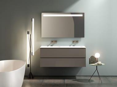 Mobile lavabo doppio sospeso con specchio SIGNATURE 06