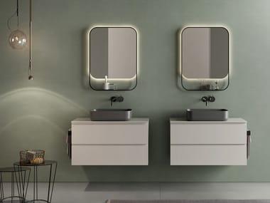 Mobile lavabo doppio sospeso con cassetti SIGNATURE 08