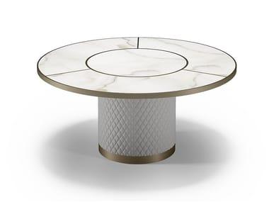 Tavolo da pranzo rotondo in vetro SIGNORE DEGLI ANELLI | Tavolo rotondo