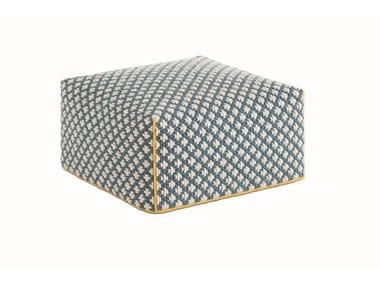Upholstered fabric pouf SILAÏ | Pouf