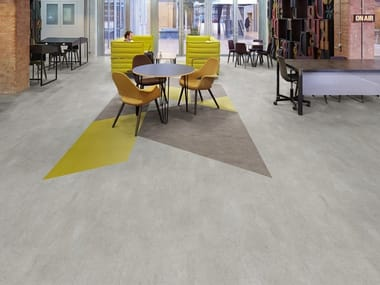 Anti-static synthetic material flooring with concrete effect SILENTFLOR CONCRETE PUR