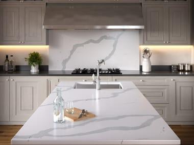 Silestone® kitchen worktop SILESTONE® ETERNAL BIANCO CALACATTA