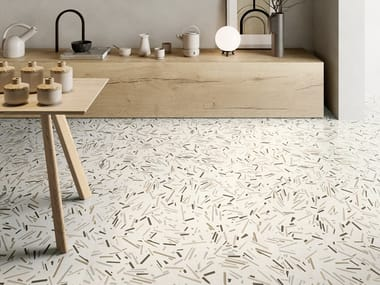 Porcelain stoneware wall/floor tiles with stone effect SILKYSTONE DECOR LIGHT