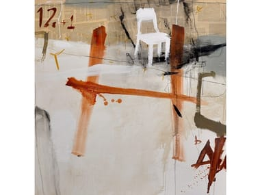 Canvas Painting Silla blanca