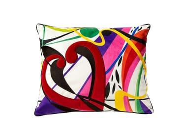 Rectangular velvet cushion SINAPSE CORACAO