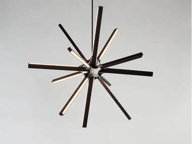 LED wooden pendant lamp SINGLE BOOM