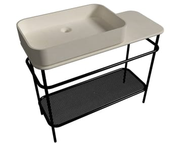 Single natural stone console sink VINTAGE | Single console sink
