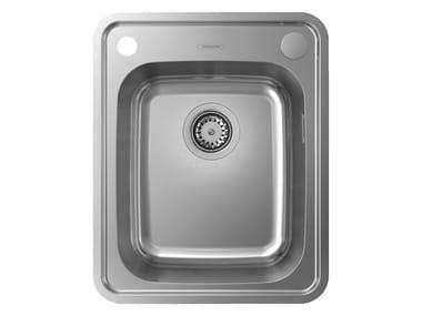 Single built-in stainless steel sink S41 | Single sink