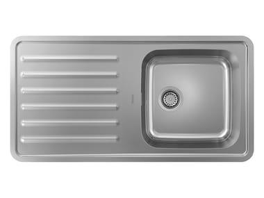 Lavello da incasso in acciaio inox con gocciolatoio S41 | Lavello con gocciolatoio